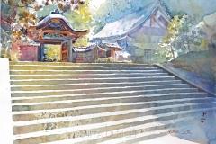Licht und Schatten, Treppe Engaku-ji-Tempel