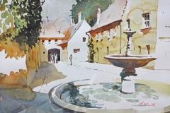 Brunnen in der Fuggerei, Augsburg