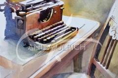 Alte Schreibmaschine, 36 x 51 cm