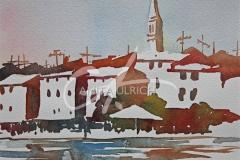 Hafen in Rovinji, Kroatien