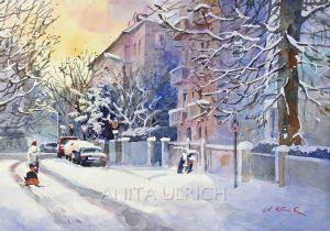 Neidhartstrasse im Winter, Augburg
