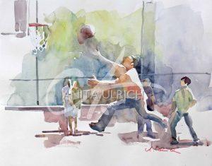 Basketballspieler, New York