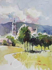 Weg hinter der Wieskirche