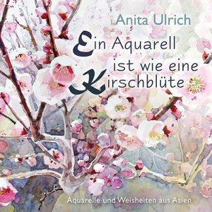Ein Aquarell ist wie eine Kirschblüte