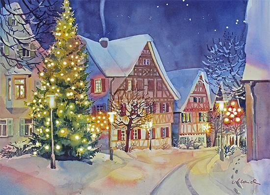 Weihnachtliche Marktstraße, Deizisau
