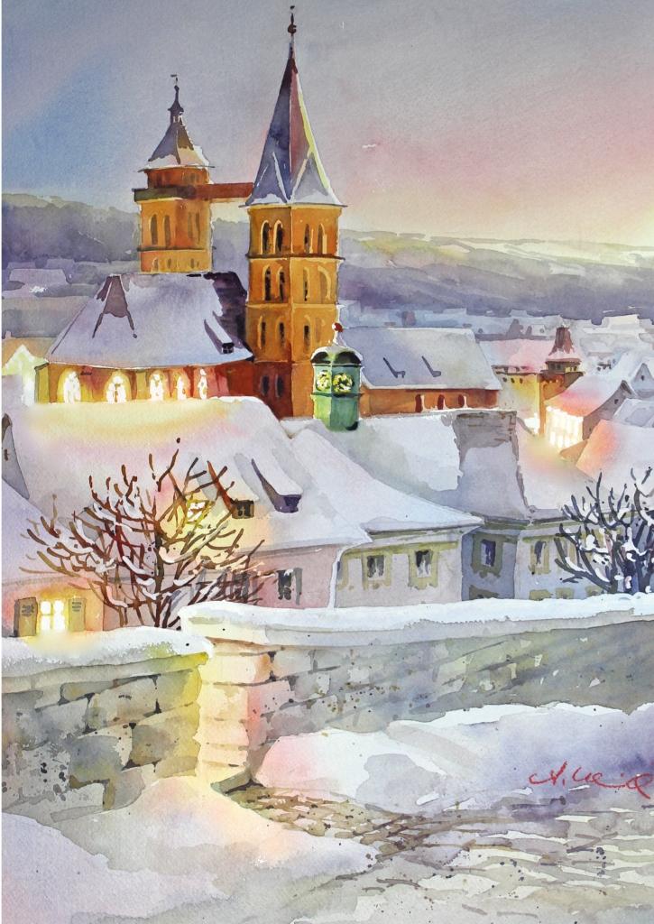 Postkarte Stadtkirche Esslingen